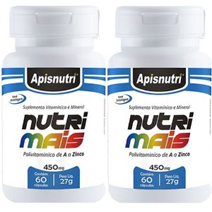 Kit 2 Und Nutrimais 60cps 450mg (Polivitamínico) Apisnutri