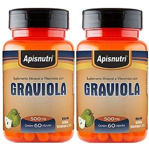 Kit 2 Und Graviola 60cps 500mg Apisnutri