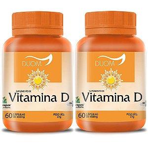 Kit 2 Und Vitamina D 60cps (1 ao dia) Duom