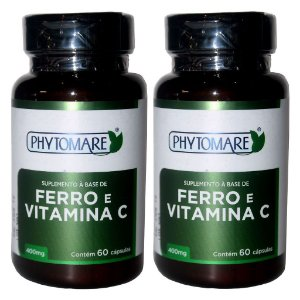 Kit 2 Und Ferro e Vitamina C 60cps 400mg