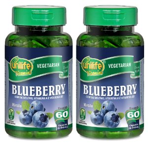 Kit 2 Und Blueberry - Mirtilo 60cps 550mg Unilife