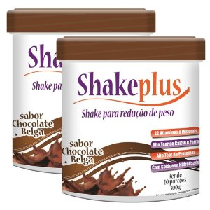 Kit 2 Und Shakeplus 300g Duom Sabor Chocolate Belga
