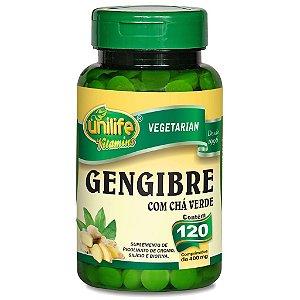Gengibre com Chá Verde 120cps 400mg Unilife