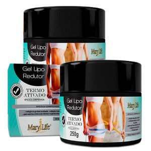 Kit 2 Und Gel Lipo Redutor Mary Life 250g