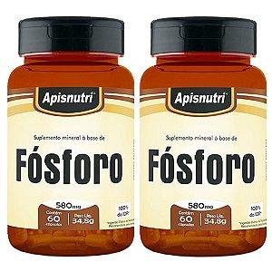 Kit 2 Und Fósforo 60cps 580mg Apisnutri