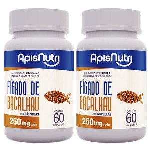 Kit 2 Und Óleo de Fígado de Bacalhau 60cps 250mg Apisnutri