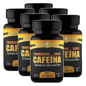 Kit 4 Frascos Cafeína 60cps 310mg Nutry Power Apisnutri
