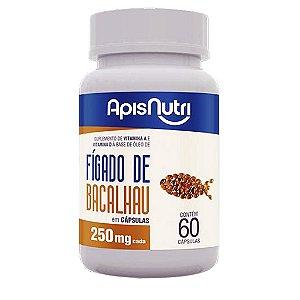 Óleo de Fígado de Bacalhau 60cps 250mg Apisnutri