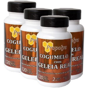 Kit 4 Und Cogumelo c/ Geléia Real 120tabs 300mg Duom