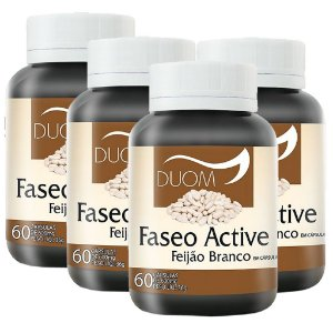 Kit 4 Und Faseo Active (Feijão Branco) 600mg Duom