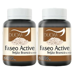 Kit 2 Und Faseo Active (Feijão Branco) 600mg Duom