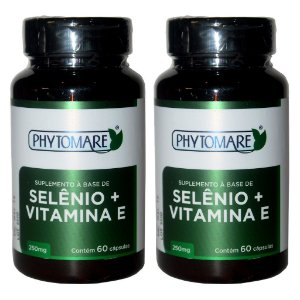 Kit 2 Und Selênio e Vitamina E 60cps 250mg Phytomare