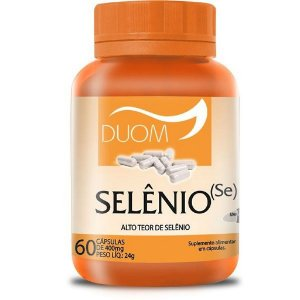 Selênio (Se) 60cps 400mg (1 ao  dia) Duom