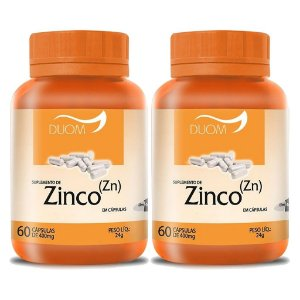 Kit 2 Und Zinco (Zn) 60cps 400mg (1 ao dia) Duom