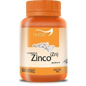 Zinco (Zn) 60cps 400mg (1 ao dia) Duom