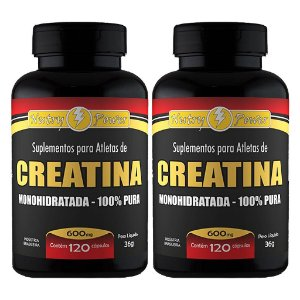 Kit 2 Und Creatina Monohidratada (100% Pura) 120cps 600mg Nutry Power