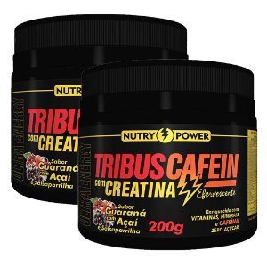 Kit 2 Und Tribus Cafein com Creatina 200g Sabor Guaraná Nutry Power