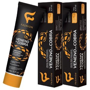 Kit 2 Und Veneno de Cobra Creme p/ Massagem 150g Fashion