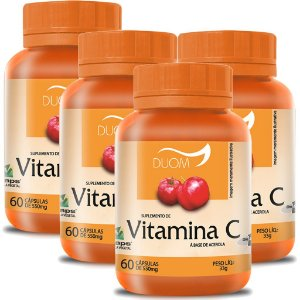 Kit 4 Und Vitamina C 60cps (1 ao dia) Duom