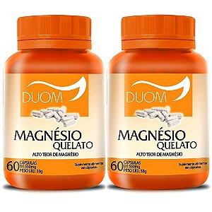 Kit 2 Und Magnésio Quelato 60cps 550mg Duom
