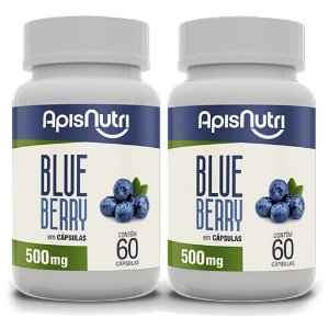 Kit 2 Und Blueberry 60cps 500mg Apisnutri
