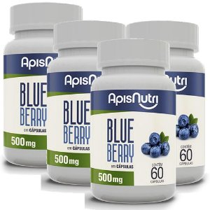 Kit 4 Und Blueberry 60cps 500mg Apisnutri