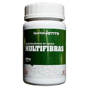 Multifibras 60cps 500mg (Quitosana, Ágar-Ágar, Clorela, Psyllium e Spirulina) Apisnutri