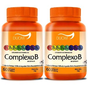 Kit 2 Und Vitaminas do Complexo B 60cps (1 ao dia) Duom