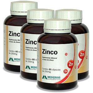 Kit 4 Und Zinco (Zn) 60cps Mediervas