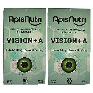 Kit 2 Und Luteína e Zeaxantina 60cps (Vision+A) Apisnutri