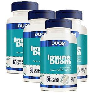 Kit 4 Und Imune 60cps 600mg Duom (Própolis, Vitamina C e Zinco) Duom
