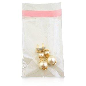 Embalagem plástica adesiva p/ joias 05x08 c/ 1000un