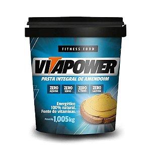 Pasta de Amendoim Integral (1 kg) - VitaPower