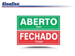 ABERTO/FECHADO - PORTUGUÊS / INGLÊS