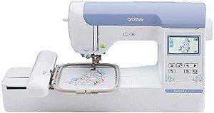 Máquina de Bordado Brother BE815 L 13x18 Autovolt Aréa de Trabalho 18x13 com Kit de Linhas de Bordados Setta