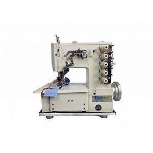 Máquina de costura Galoneira Industrial Bracob BC 4000-5 completa 3 Agulhas
