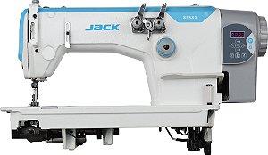 Maquina de costura 2 Agulhas ponto corrente Base plana tipo TAIPE C/GUILHOTINA  AUTOMATICA Jack JK-8558GWZ/CA/BR - 220 v