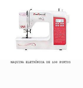 MAQUINA DE COSTURA DOMESTICA SUN SPECIAL SS-8100 COM 100 PONTOS AUTOVOLT