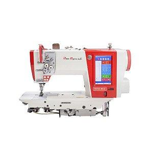 Máquina Costura Industrial Pespontadeira Eletrônica Barra Alternada Sun Special SS275II-DM-Q - 220 V