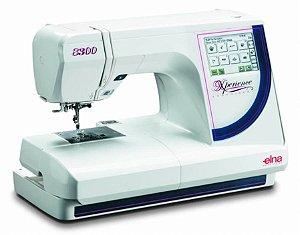 Maquina de Bordado Elna Modelo 8300 + Kit com 10 linhas de bordar