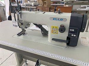 Maquina de Costura Reta Transporte Duplo Ello EL-6380VD Com Kit de Calcador de Vivo - 220 VLTS