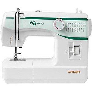 Máquina de Costura Doméstica Siruba HSM 2221 - 110 VLTS + kit de linhas