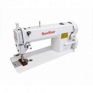 Maquina  Reta Industrial Sunstar KM 250A Motor Direct Drive - 220 V + Kit de Calcadores