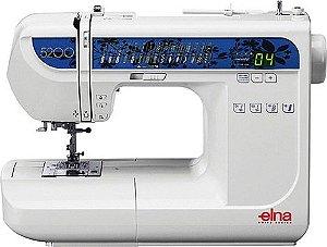 Máquina de Costura Elna 5200 com 30 pontos - 220 VLTS + KIT DE LINHAS
