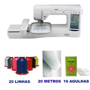 Maquina de Bordados Brother Bp 2150L e Kit Inicial com 20 Linhas de Bordar Ricamare