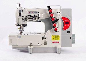 Maquina de Costura Galoneira 3 Agulhas Base Plana Direct Drive Sunspecial SS5-01-DCB-SH-Q1
