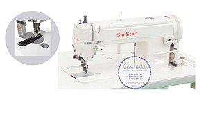 Máquina de Costura Reta Transporte Duplo Mecanica SUNSTAR KM-341BL - BIVOLT
