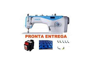 Maquina de Costura Reta Eletronica Jack A4 + KIT DE CALCADORES +  BOBINAS EXTRAS + AGULHAS