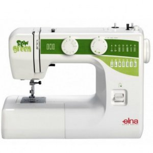 MAQUINA DE COSTURA DOMESTICA ELNA SEW GREEN 15 PONTOS - 110 V + KIT EXCLUSIVO