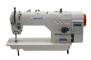 MAQUINA  RETA INDUSTRIAL ELETRONICA MEGAMAK MK-9800D-4M - 220 V  COM KIT DE CALCADORES